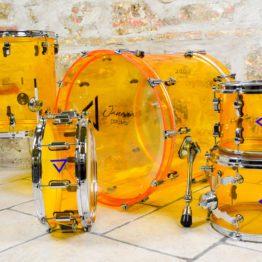 Set Batteria acustica con rullante -slim witch pumpkin orange | Janara Distribution